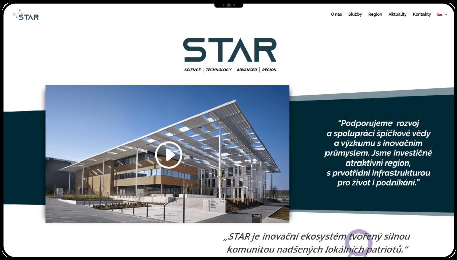 Vytvorenie webu pre vedecko technologické centrum pri Prahe