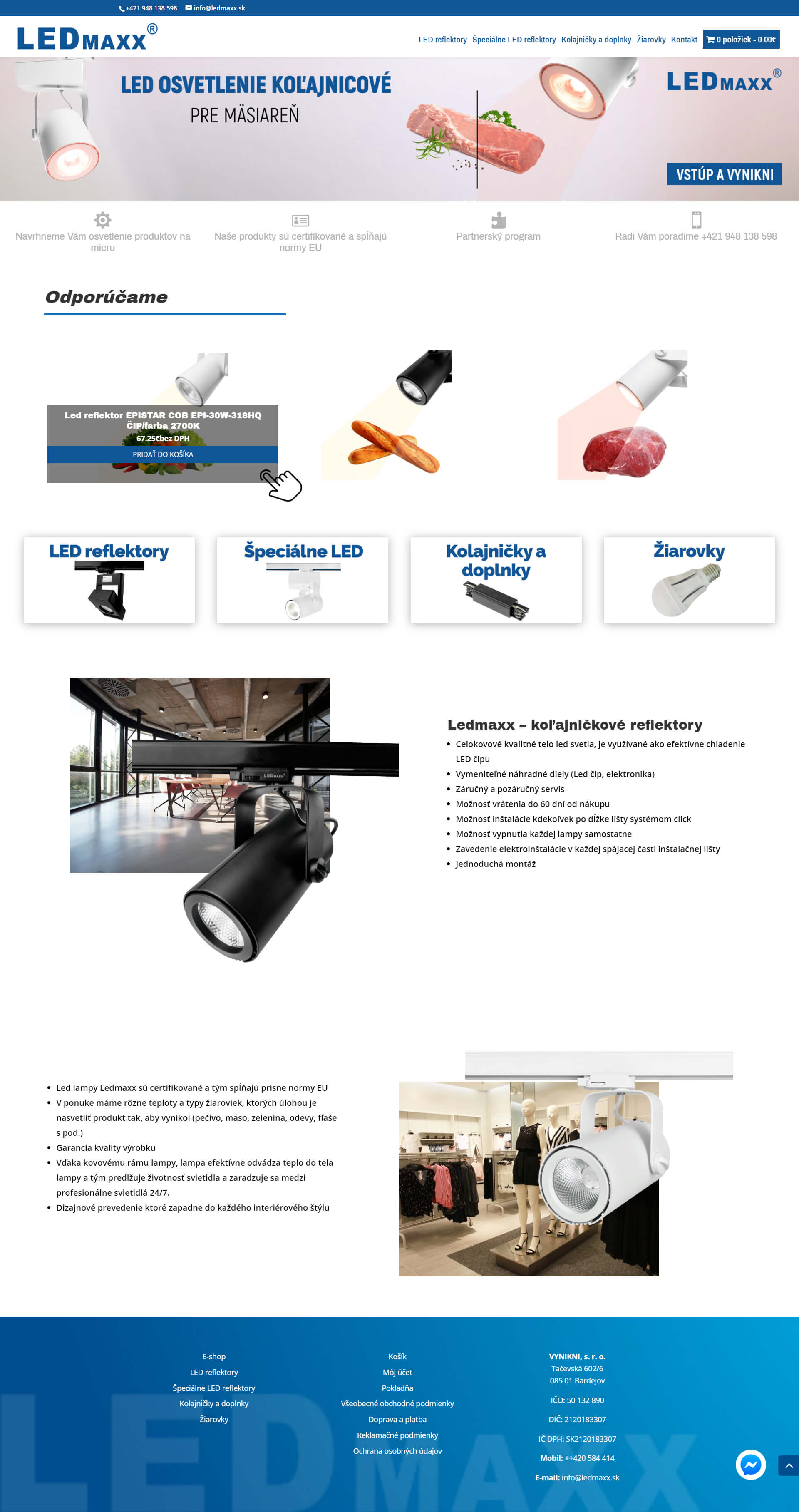 Vytvorenie e-shopu pre predajcu profesionálnych LED svietiel