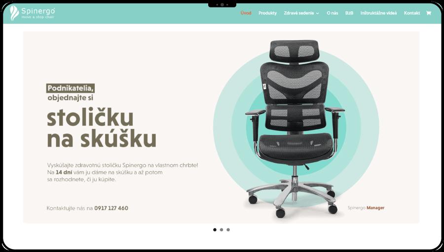 Tvorba e-shopu pre značku zdravých ortopedických stoličiek