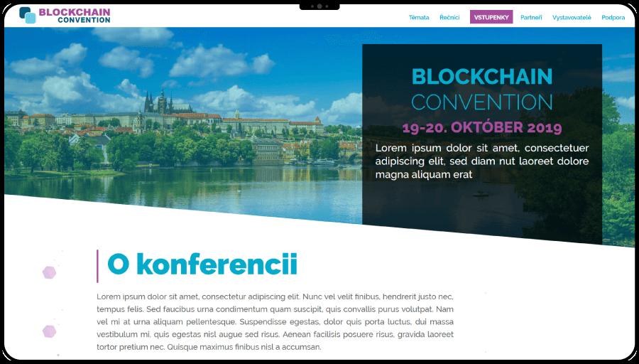 Dizajn a tvorba webstránky pre blockchainovú konferenciu