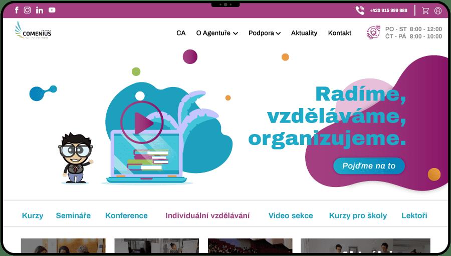 Redizajn a tvorba web stránky s e-shopom pre vzdelávaciu agentúru