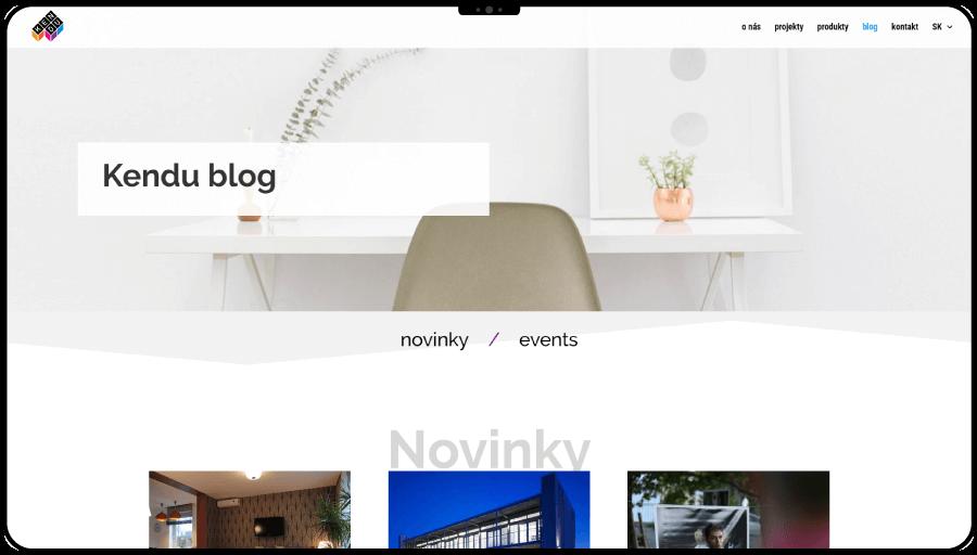 Tvorba web stránky pre architektov zo štúdia Kendu
