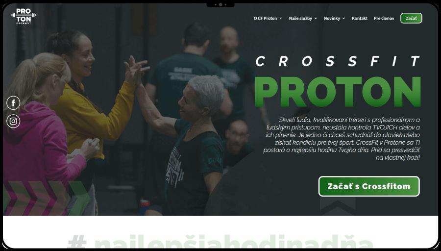 Redizajn webstránky pre crossfitovú telocvičňu