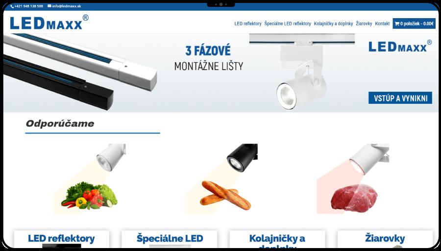 Vytvorenie e-shopu pre predaj profesionálneho osvetlenia predajní a prevádzok