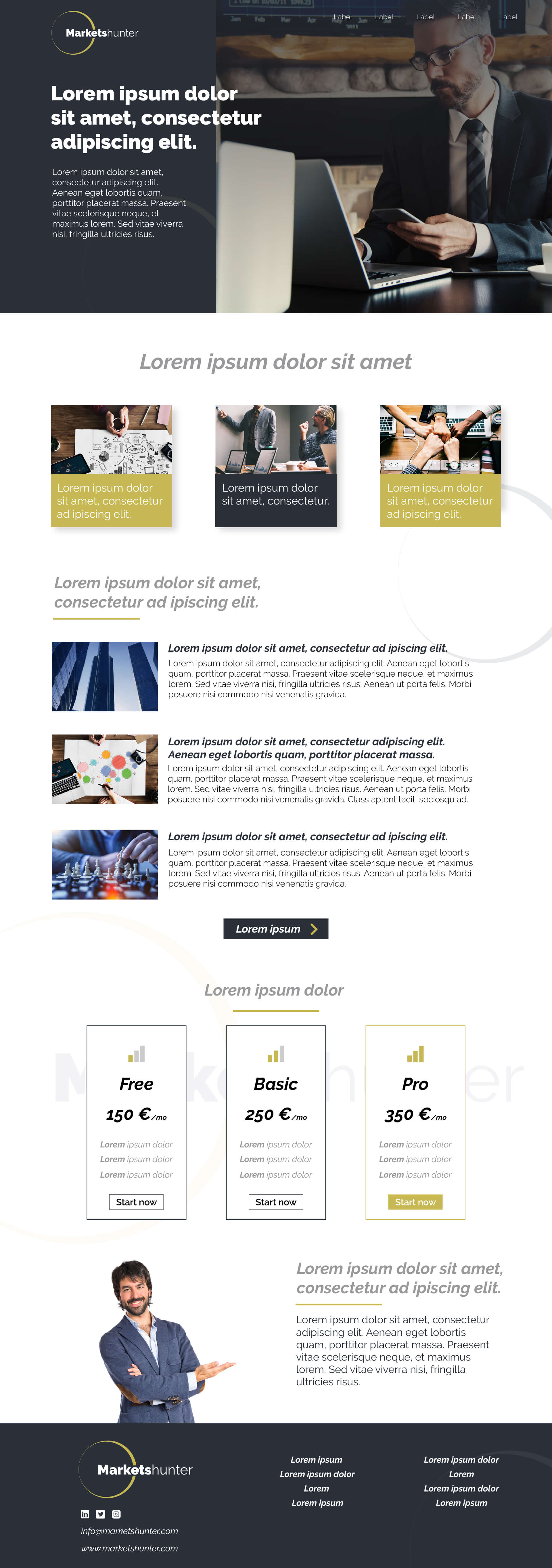 Moderný dizajn webstránky pre firmu vo finančnom sektore