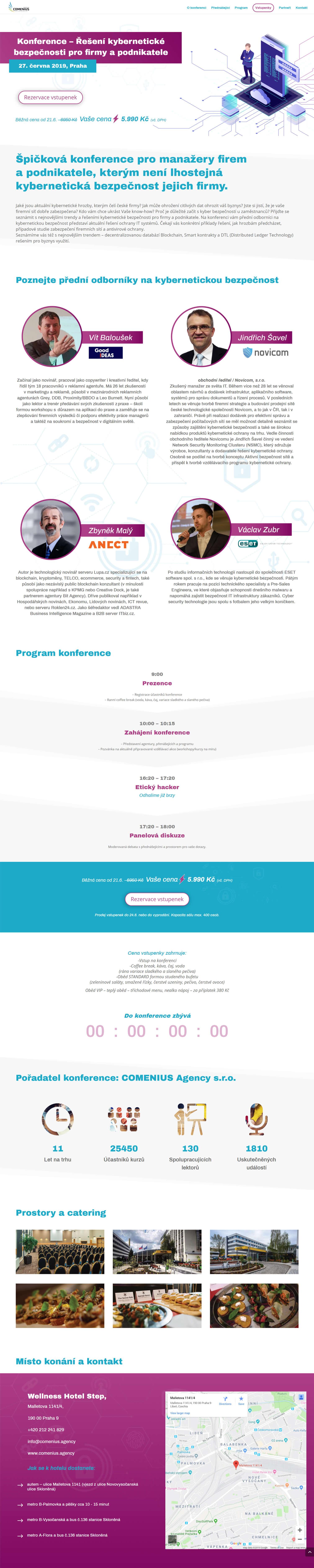 Tvorba a dizajn webu pre kybernetickú konferenciu