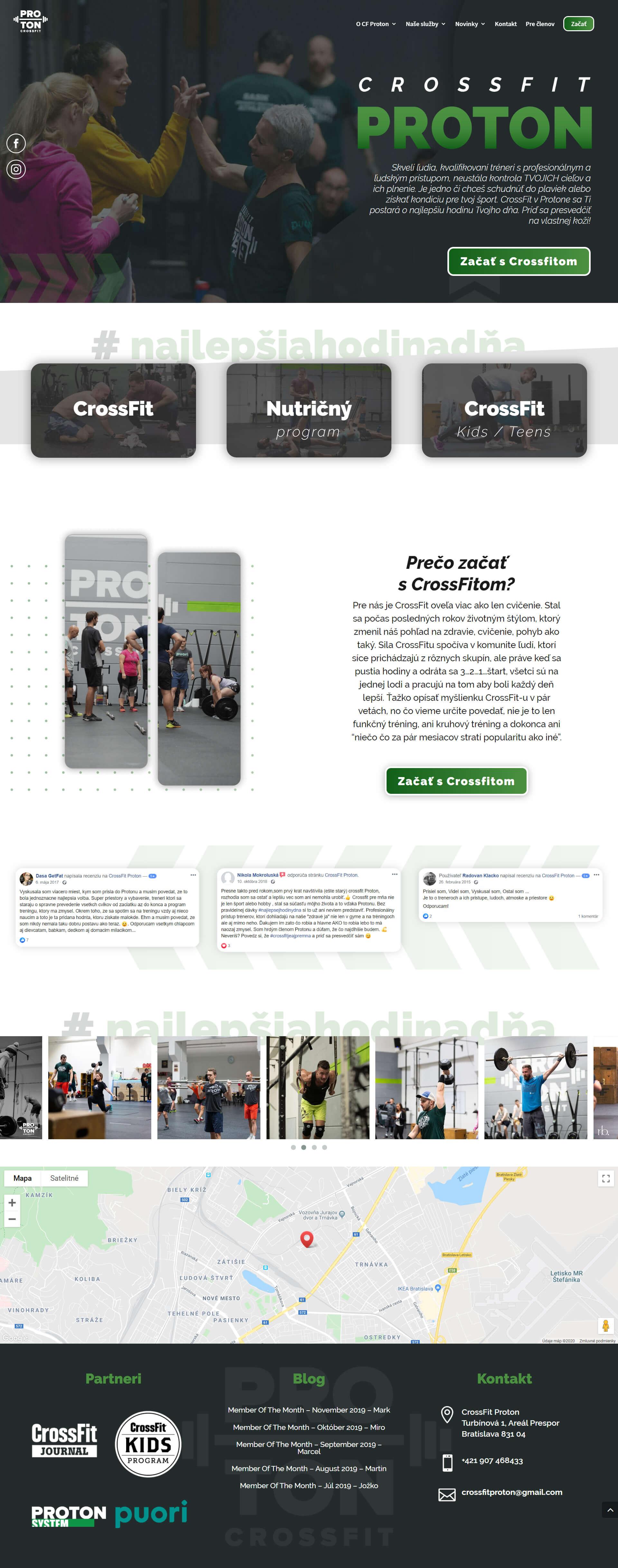 Tvorba webstránky pre fitness centrum a crossfit