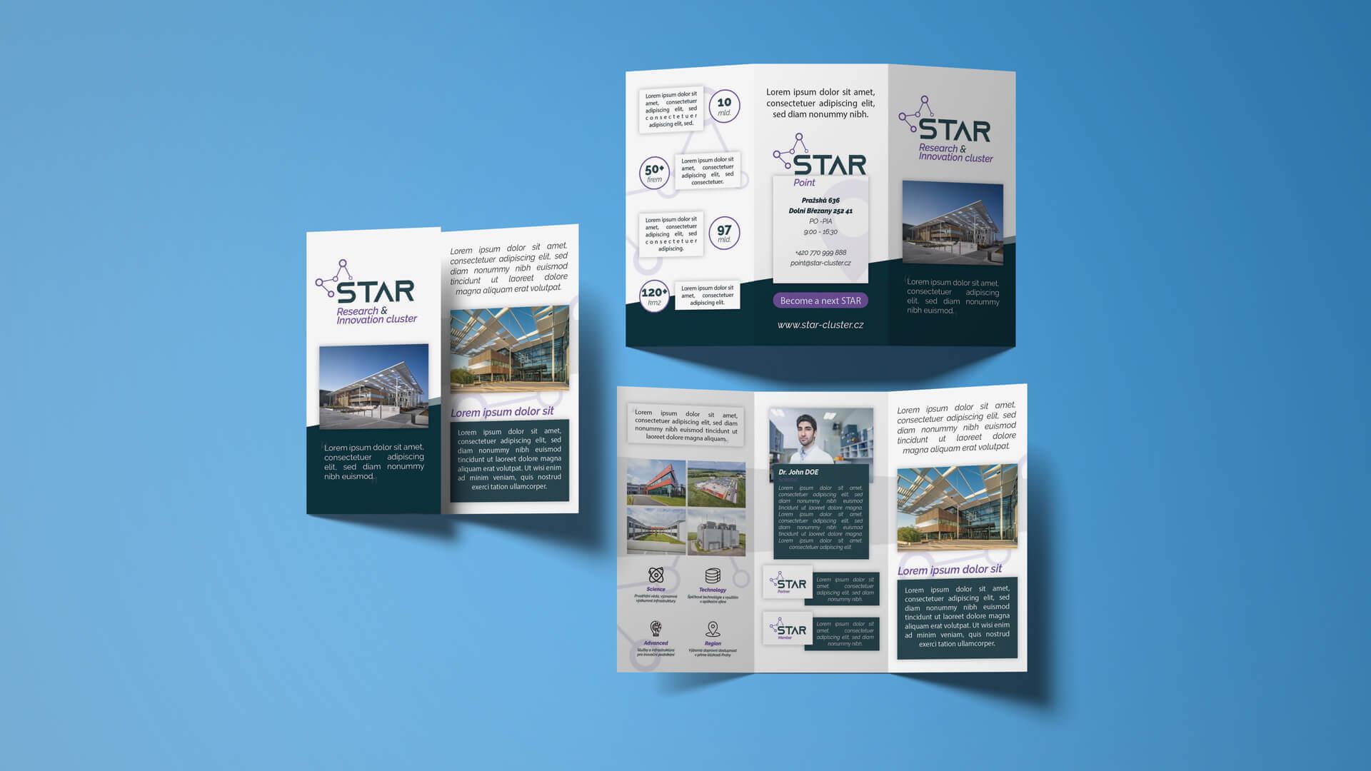 Dizajn modernej DL brožúry
