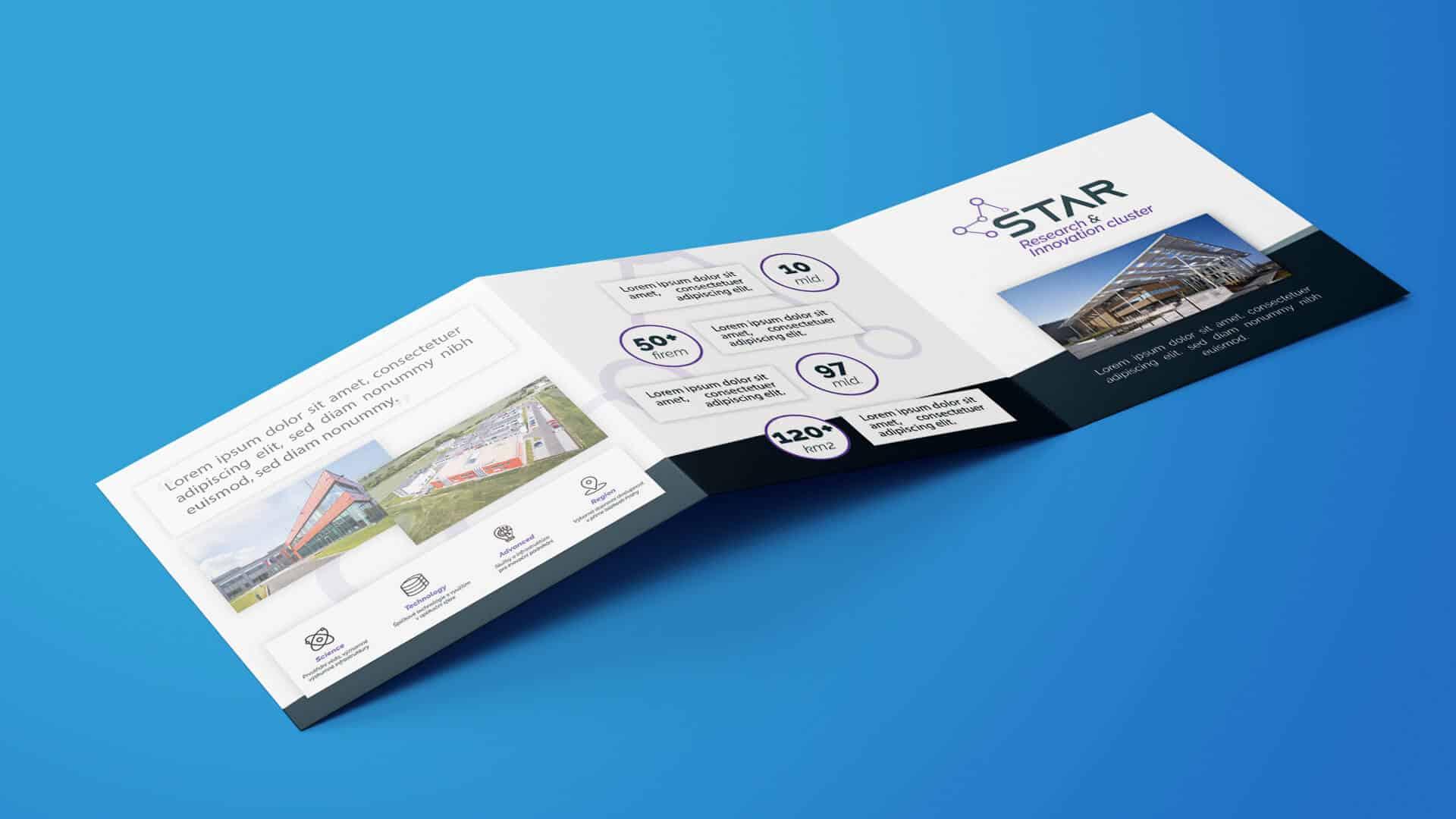 Moderný dizajn firemnej brožúry