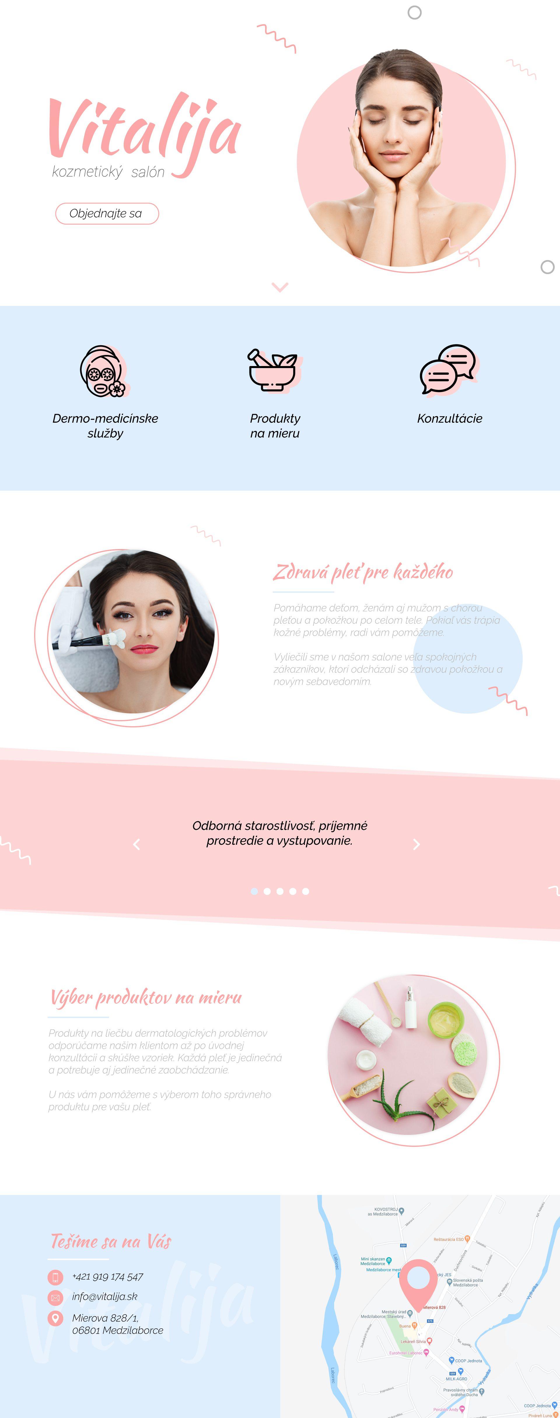 Tvorba webu pre kozmetický salón