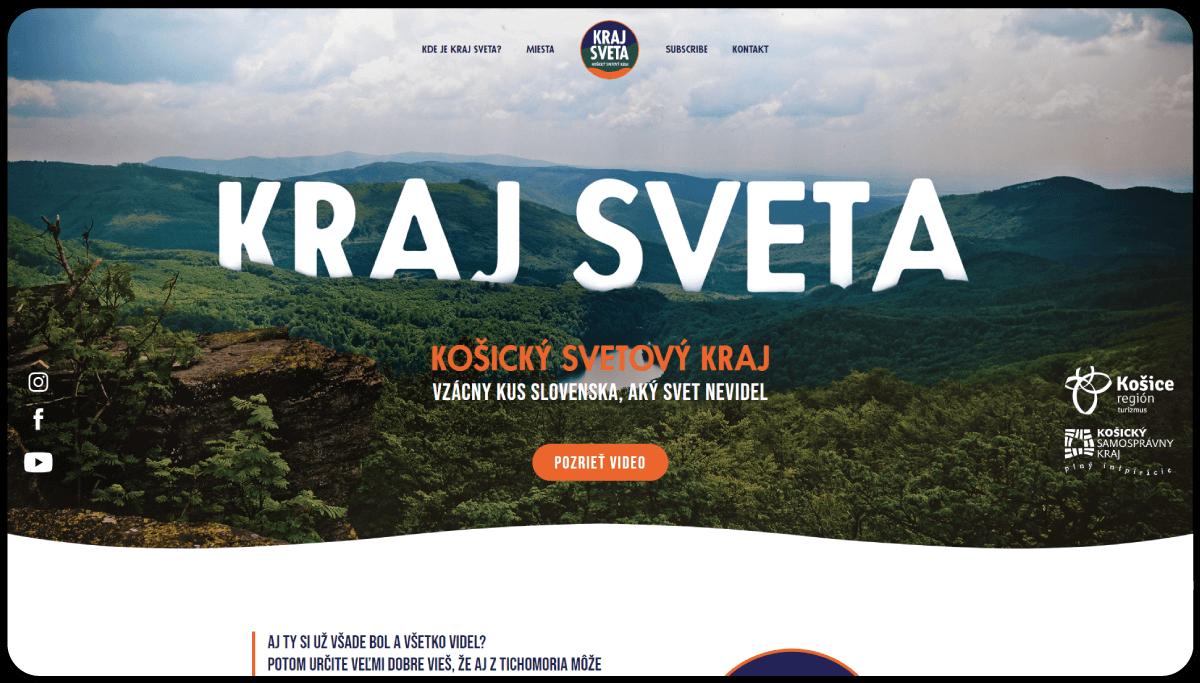 Tvorba destinačnej webstránky Kraj sveta