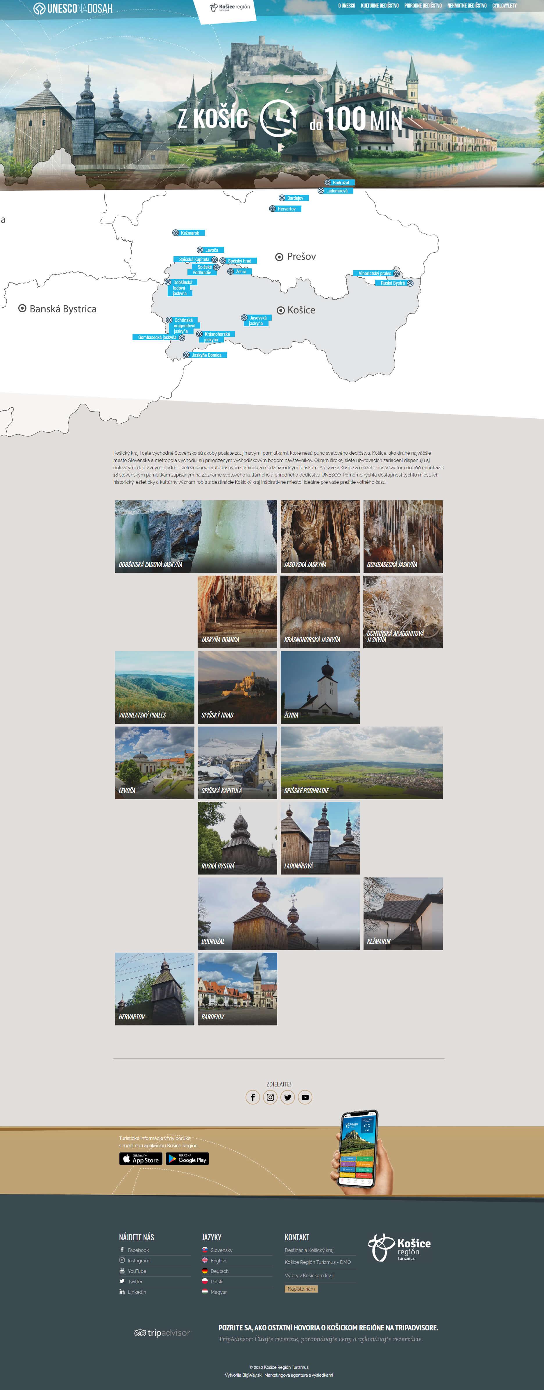 Tvorba webu s pamiatkami Unesco a interaktívnou mapou