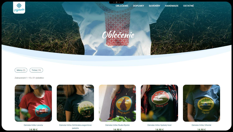 Vytvorenie E-shopu pre lokálne produkty z Východu