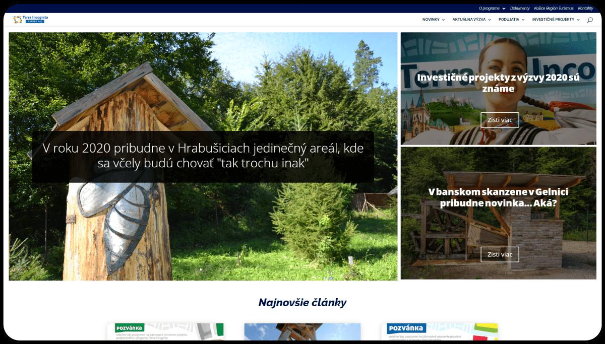 Tvorba destinačného webového portálu Terra Incognita Košický kraj