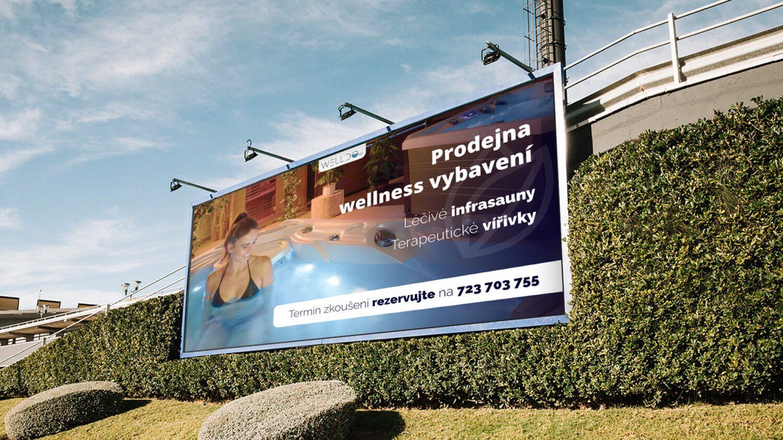 Grafika billboardu pre wellness štúdio