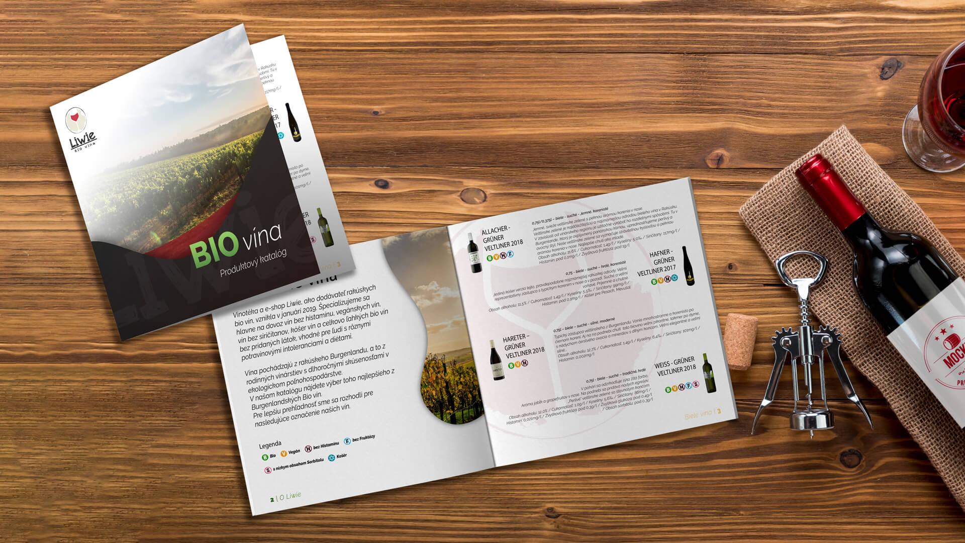 Grafika katalógu pre BIO vína