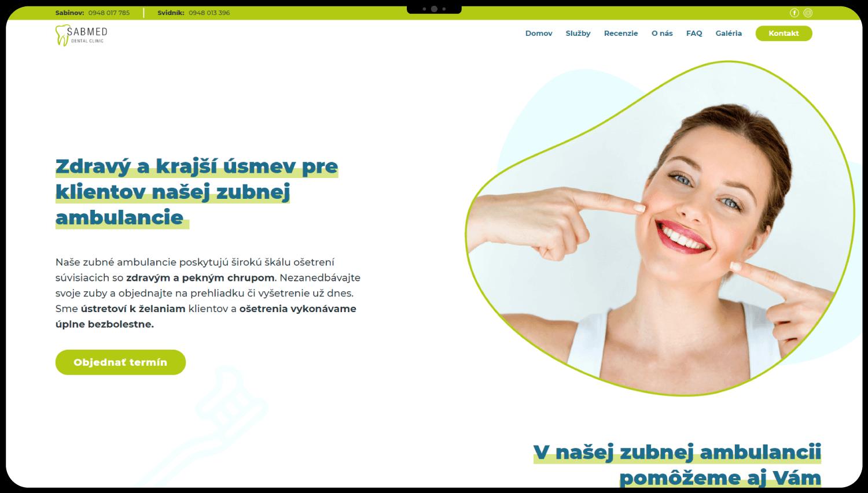 Tvorba webstránky pre zubnú ambulanciu