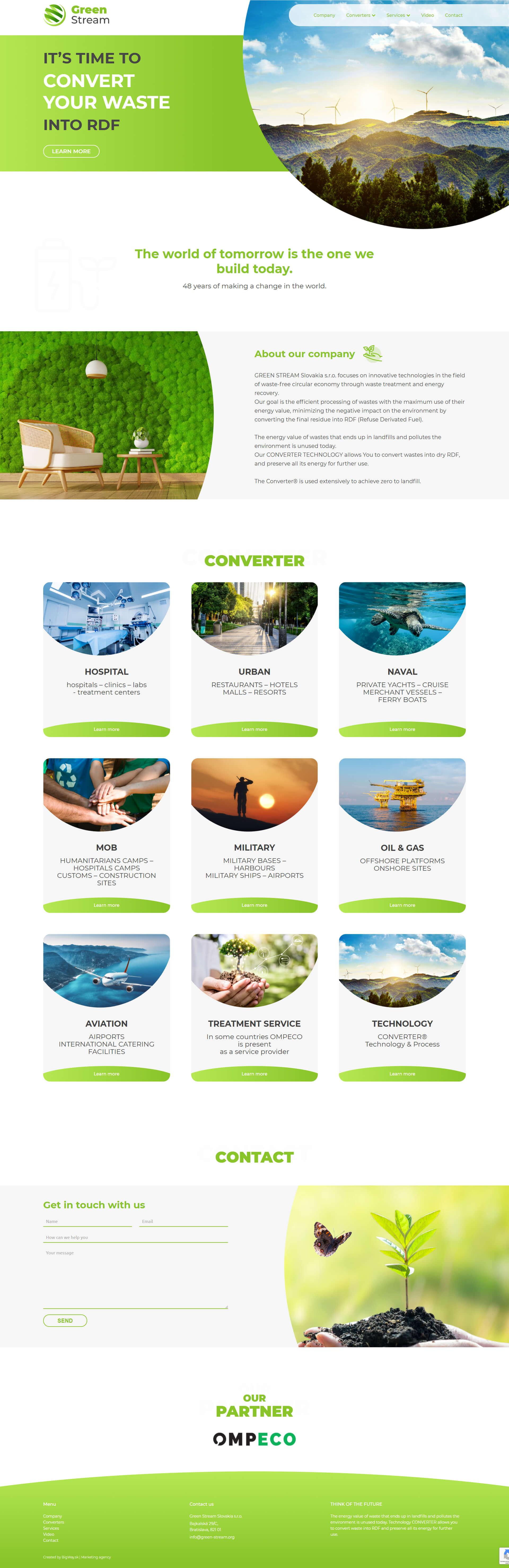 Vytvorenie webstránky pre medzinárodnú ekologickú spoločnosť