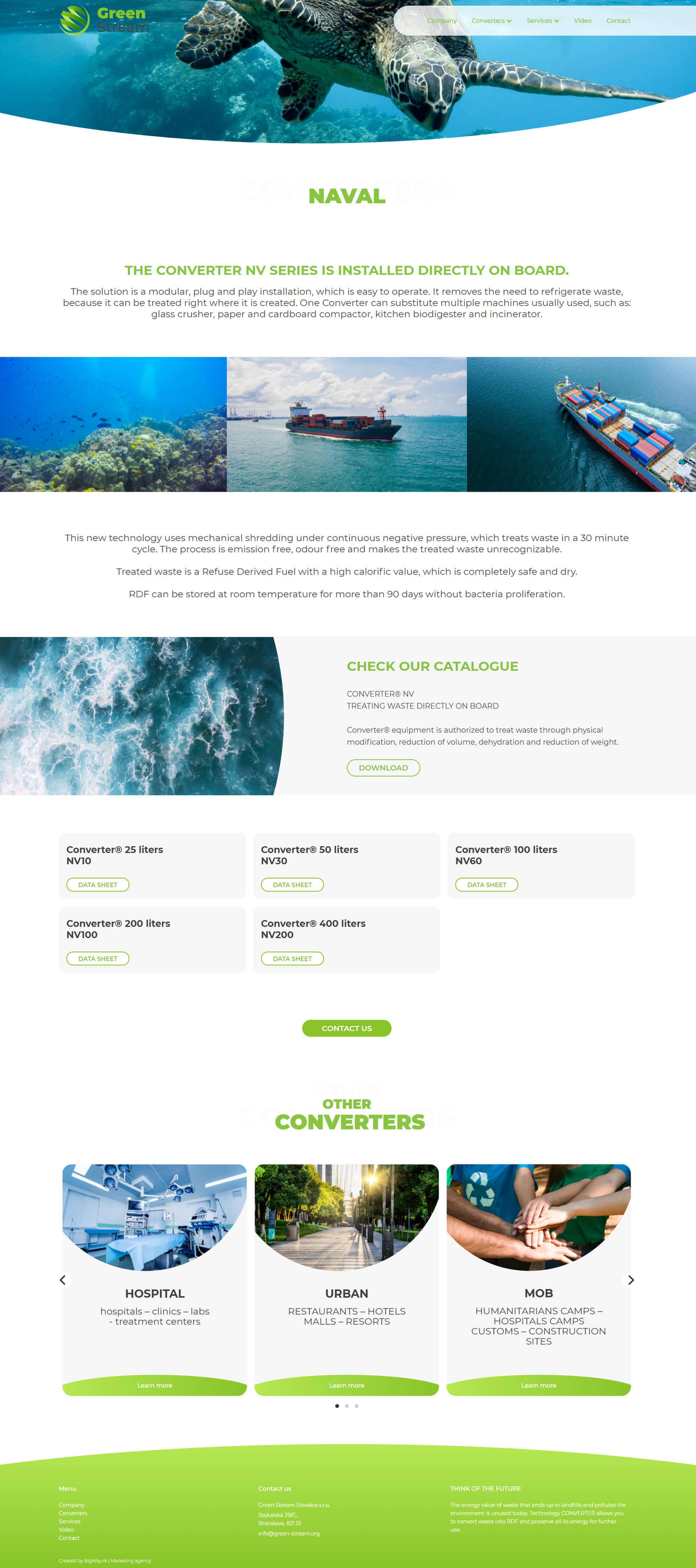 Tvorba webu pre značku, ktorá spracuváva odpad