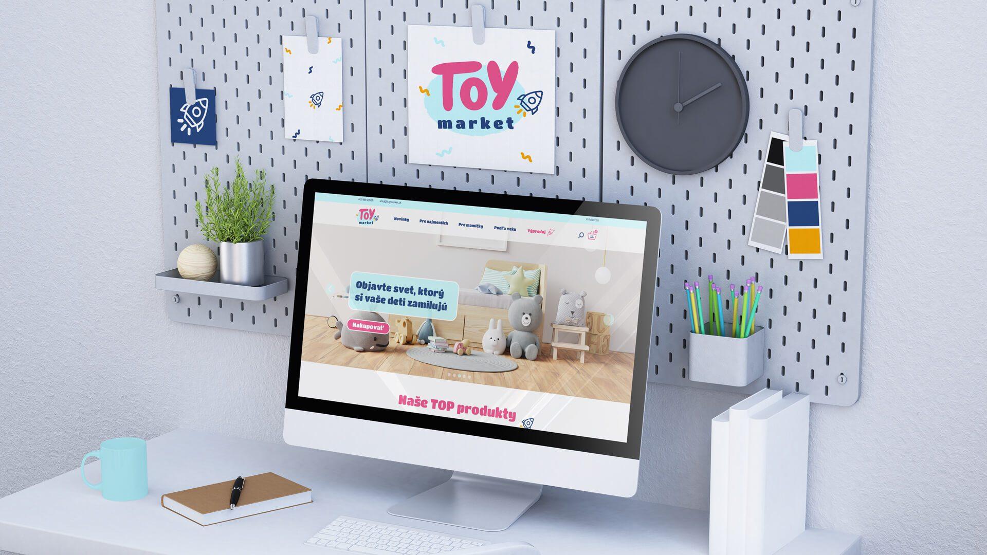Dizajn domovskej stránky pre E-shop s detskými hračkami