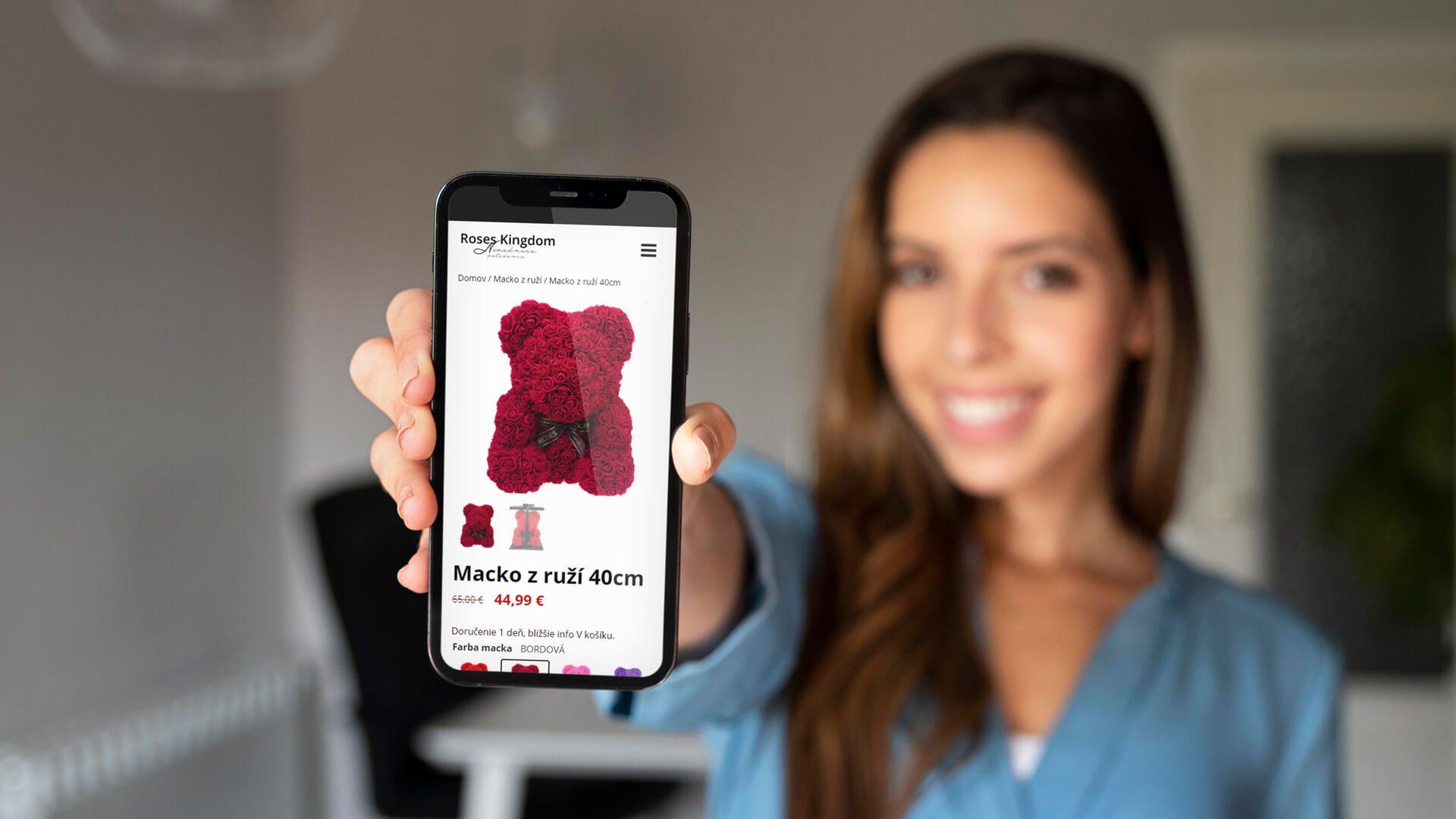 Tvorba E-shopu pre predaj stabilizovaných ruží