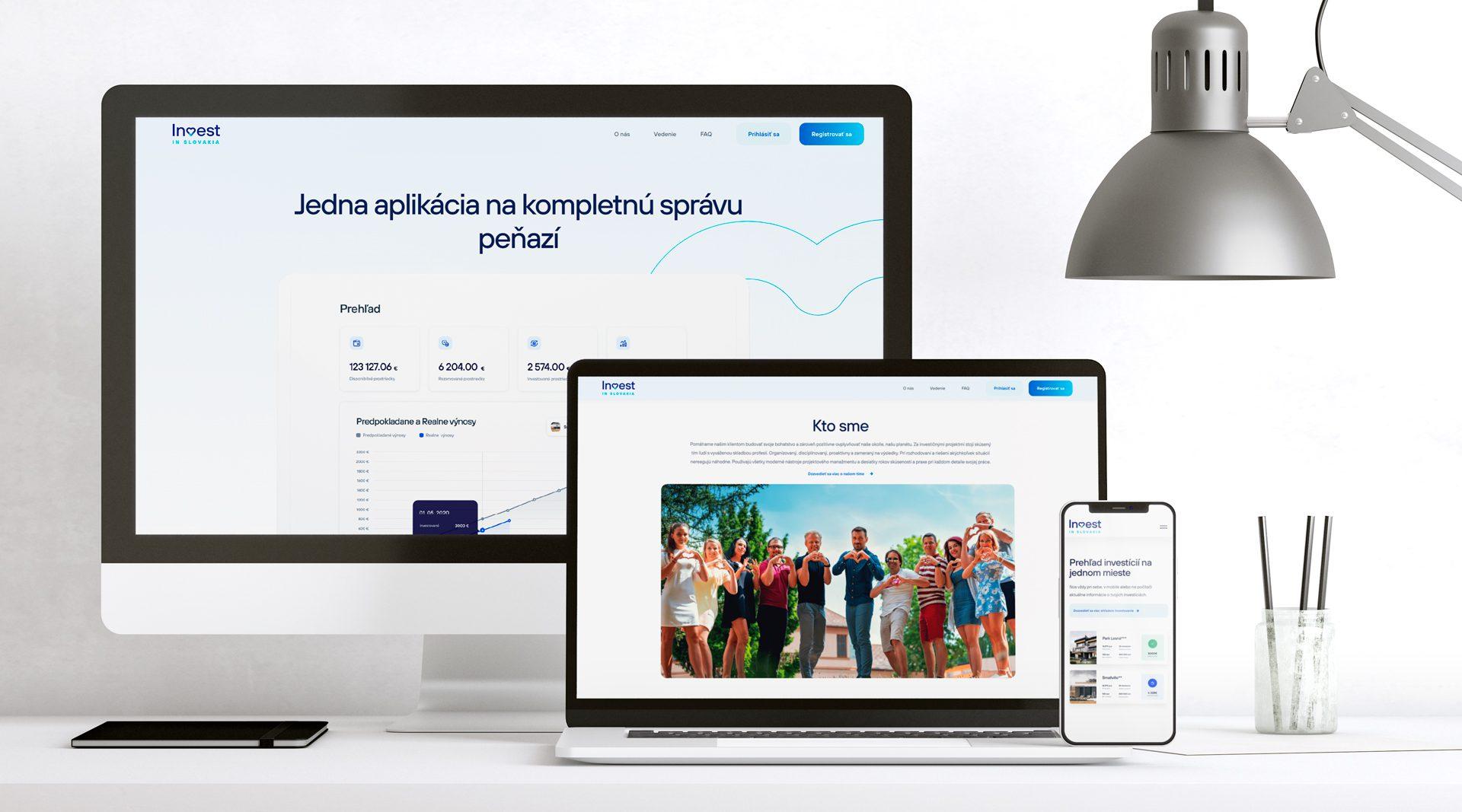 Vytvorenie responzívnej webstránky pre investičné projekty